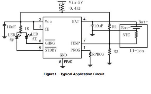 HM4050DR線性鋰離子電池充電器芯片的數據手冊免費下載
