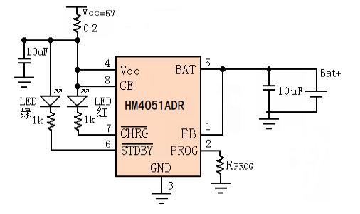 HM4051ADR鋰離子電池充電器芯片的數據手冊免費下載