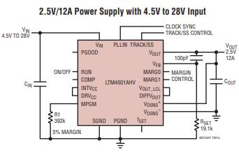 DC/DC微型模块开关稳压器系统LTM4601AHVMPV的特点及适用范围