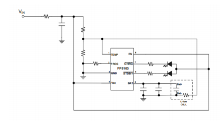 FP8103線性鋰離子電池充電器的數據手冊免費下載