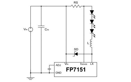 LED驅動器FP7151的中文數據手冊免費下載