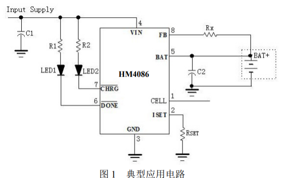 HM4086鈦酸鋰電池充電管理芯片的數據手冊免費下載