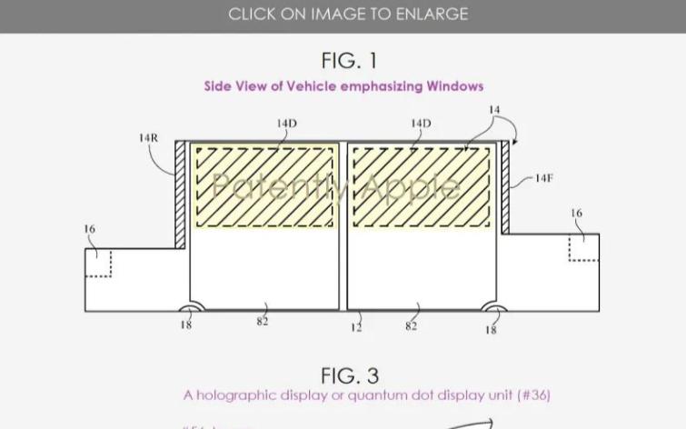 蘋果新專利:駕駛員可以在駕駛時觀看投影圖像