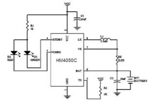 HM4050C鋰離子電池充電器芯片的數據手冊免費下載