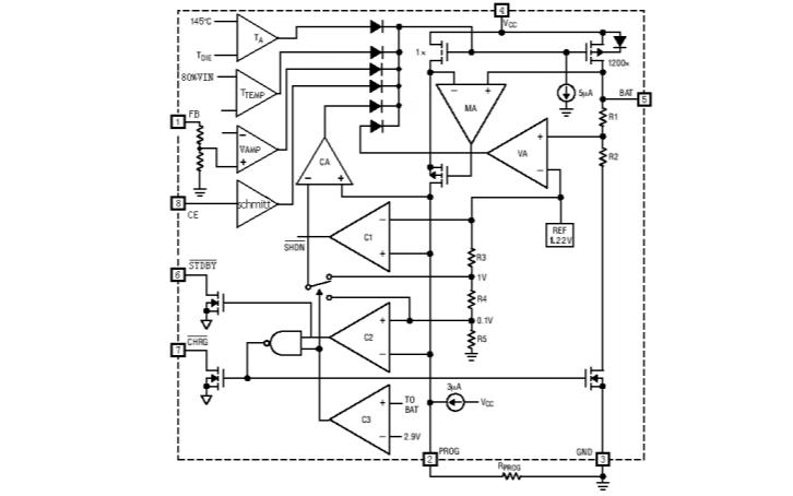 HM4051DR鋰離子電池充電器芯片的數據手冊免費下載