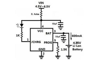 HM4054D線性鋰離子電池充電器的數據手冊免費下載