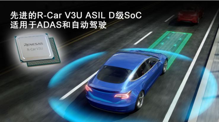 瑞薩電子加速ADAS和自動駕駛技術開發  推出先進的R-Car V3U ASIL D級片上系統
