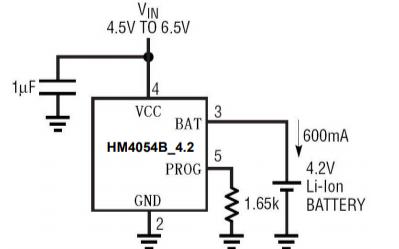 HM4054B線性單節鋰電充電芯片的數據手冊
