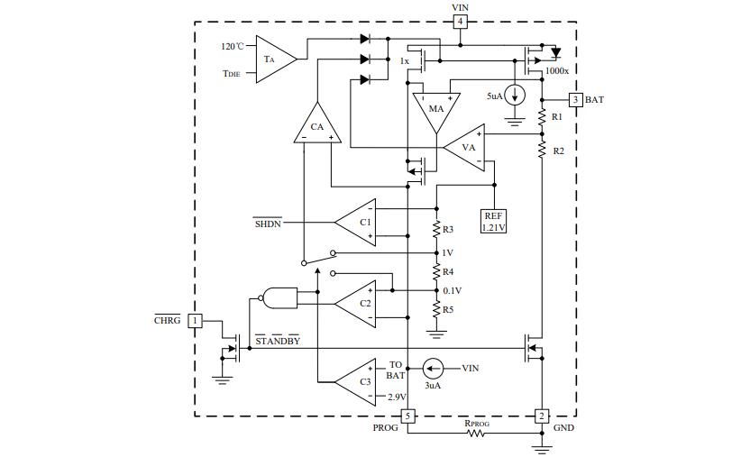 HM4054F單片鋰離子電池恒流恒壓線形電源管理芯片的數據手冊免費下載