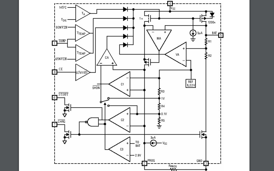 HM4056E恒定電流電壓線性充電器的數據手冊免費下載