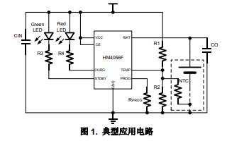 HM4056F線性鋰離子電池充電器的數據手冊免費下載