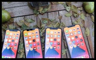 苹果的新iPhone 12系列在美国的零售店中很...