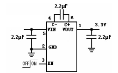 HM3200B 低噪声稳压电荷泵DCDC变换器芯片的数据手册免费下载