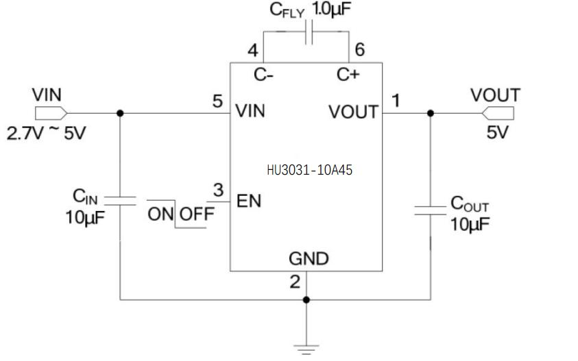HU3031电荷泵型DCDC转换器芯片的数据手册免费下载