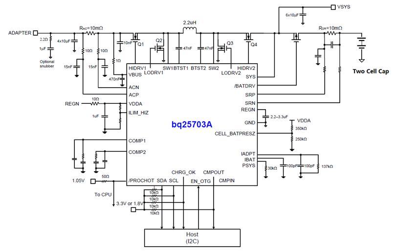基于BQ25703A的升降压超级电容充电方案