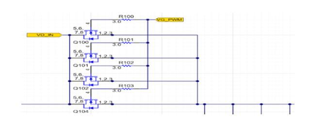 MOSFET陣列并聯放置多個功率MOSFET以減輕系統負擔
