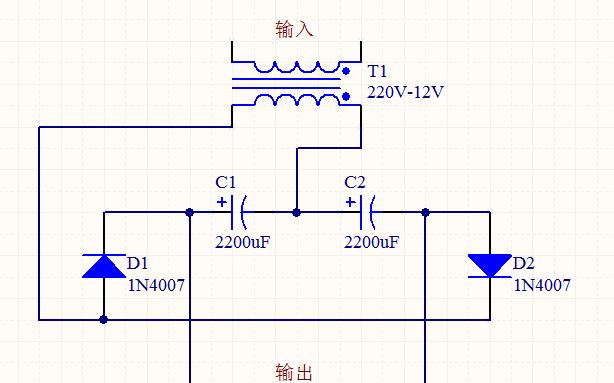 四個元件做一個升壓電路,電壓提升兩倍