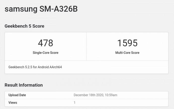 三星Galaxy A32 5G现身跑分库:搭载联...