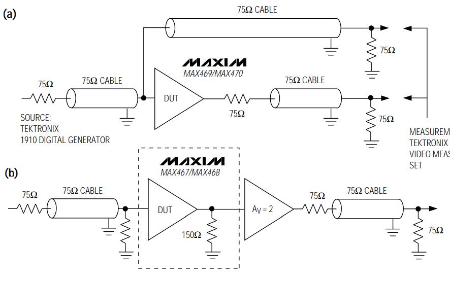 MAX463和MAX470 RGB视频开关和缓冲器的数据手册免费下载