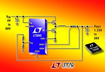 同步DC/DC降壓型控制器LT3845的功能特點及適用范圍