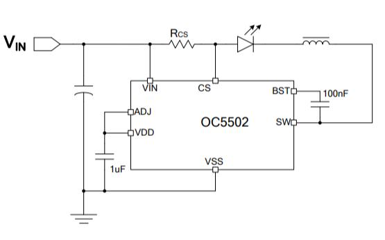 OC5502同步降壓LED恒流驅動器的中文數據手冊免費下載