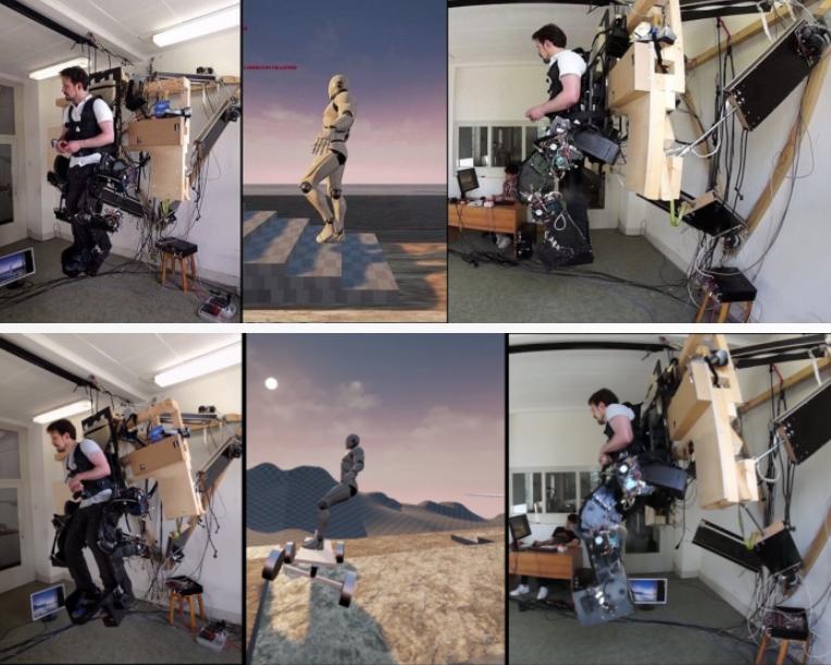 VR外骨骼设备问世,可使下半身获得反馈
