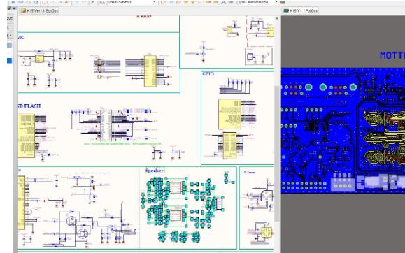 Altium在繪制PCB的是怎么可以讓原理圖和PCB分屏顯示
