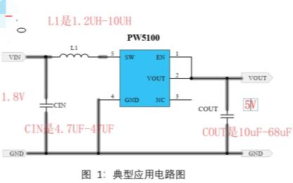 1.8V轉5V的電源芯片PW5100的方案詳細說明