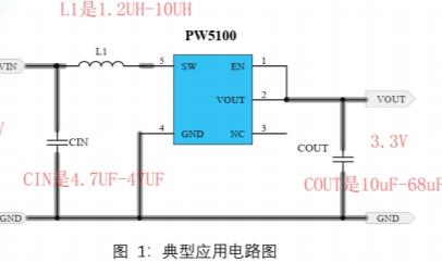 2.4V和2V转3.3V电源芯片PW5100的数据手册和电路图说明
