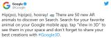 谷歌刚刚在其搜索引擎上增加了50个新的动物