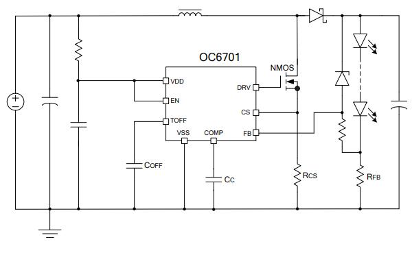 OC6701升壓型LED恒流驅動器的數據手冊