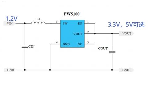 PW5100升壓芯片的中文數據手冊免費下載
