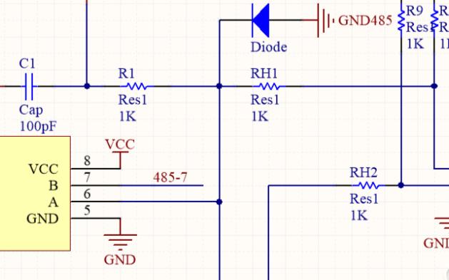 TTL转485,自动流向,PCB BOM