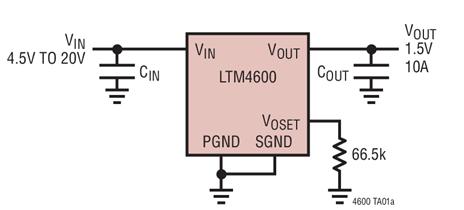 DC/DC微型模块LTM4600的特点性能及适用...