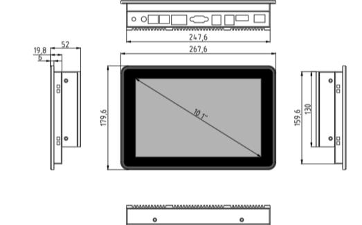 ZX-IPC101-H人機界面工業一體機的產品介紹