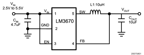 微型DC/DC轉換器LM3670和LM3671的性能及應用范圍