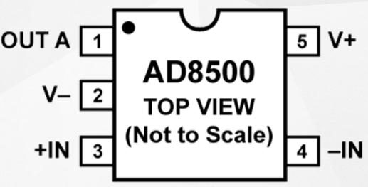 低功耗低电压精密运算放大器AD8500的性能特点及适用范围