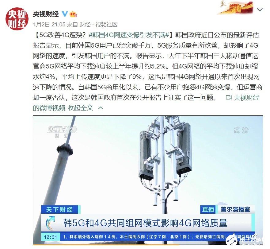 韩国4G网络速度首次出现网速下降,建设独立5G基站不可缺