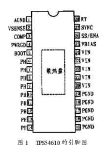 基于TPS54610外部补偿结构的电路构成及设计