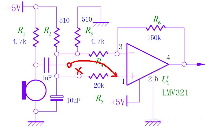 单通道声音定位硬件电路设计原理图解析