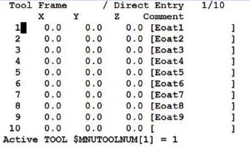 FANUC机器人TCP三点法