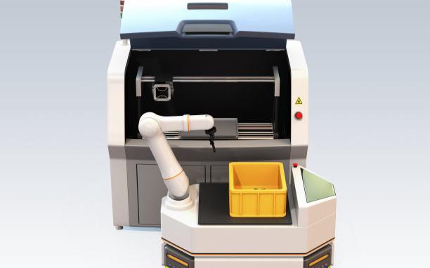 机加工车间智能物流解决方案:AGV+节卡小助协作机器人