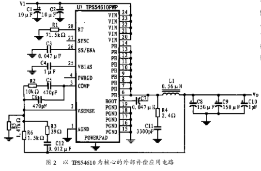 基于TPS54610的同步降压DC/DC电源设计