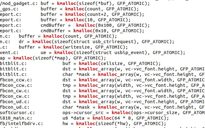 Linux內核中用GFP_ATOMIC申請內存意味著什么