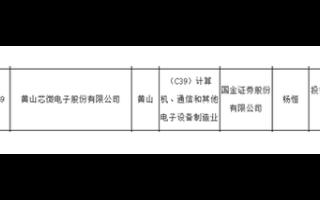 黄山芯微电子和苏州东微半导体 长光华芯拟A股IPO