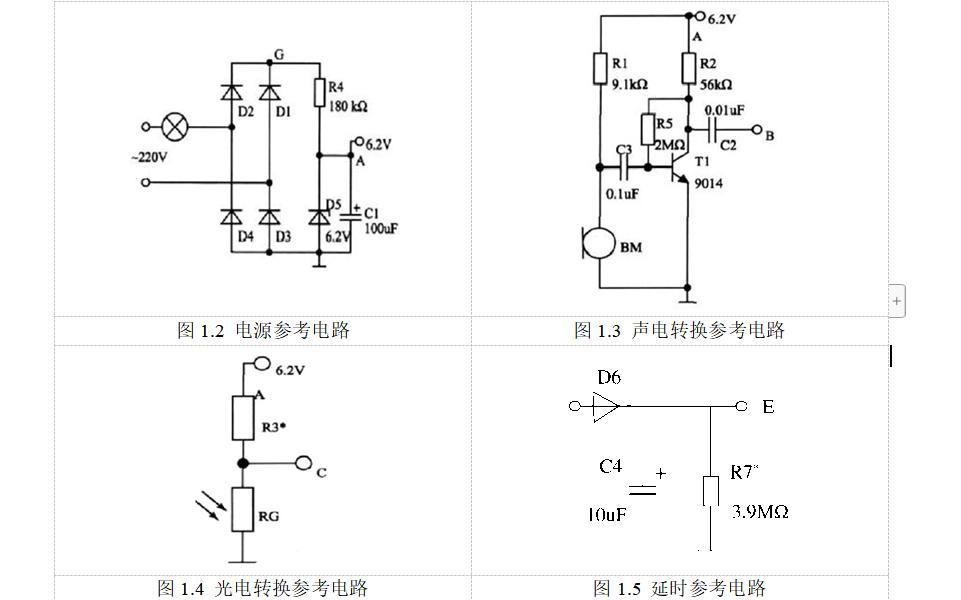 八个电子技术综合设计的任务书和参考电路详细说明