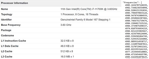 汇总Intel 11代酷睿i7-11700K