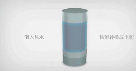 研究所推一杯热水就能充电的保温杯