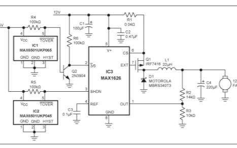 如何使用微型温度监视器控制3速风扇