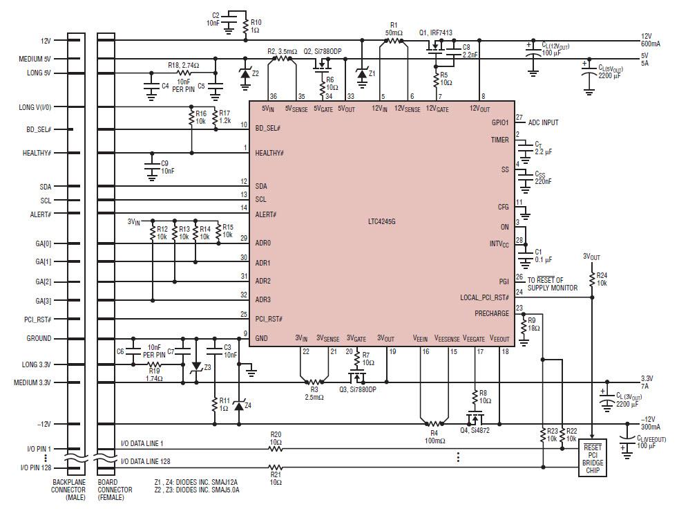 基于V16n03-03-LTC4245-Sachdev热插拔控制器的参考设计1